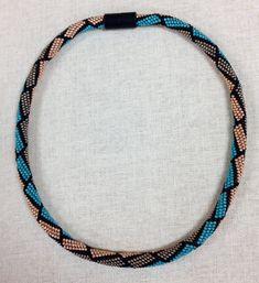 LOVELY PeyTwist Necklace by Diane Honey! Macrame Jewelry, Bead Jewelry, Peyote Beading, Peyote Stitch, Bead Crochet, Bead Weaving, Loom, Stitches, Beaded Necklace