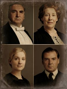 Downton Abbey ~ Love how they made these look like old photos.