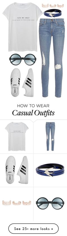 """Casual Friday"" by soso-alliso on Polyvore featuring MANGO, Frame Denim, adidas, McQ by Alexander McQueen, Tom Ford and New Look"