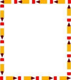 School Clip Art Borders | ... Of A Blank Pencil Frame Border | # 3015 | Freestockphotos.biz