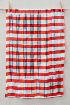 Red & Blue Plaid. We like to see the wiggly and imperfect lines of the original painting in our patterns and the plaid is not an exception. Ktaadn