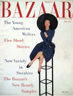 Harper's Bazaar, July 1955  Source: My Vintage Vogue  My Vintage Vogue has an astonishing Flickr page, filled with vintage 1940s, 50s, and 60s fashion magazines, covers, advertisements, photographs, and more.