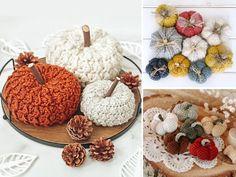 QR-crochet-pumpkins-ft Crochet Pumpkin Pattern, Afghan Crochet Patterns, Crochet Motif, Paper Lotus, Waffle Stitch, Pumpkin Colors, Crochet Fall, Yarn Crafts, Free Pattern