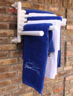 Pool Towel Rack Ideas towel rack by the pool made from an old door In Ground Pvc Pipe Towel Rack Arms Great Ideas Pinterest Pvc Pool And Pool Towel Racks