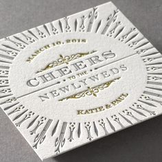Deco Distinction Coaster ??? Letterpress