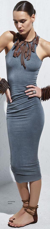 gray dress @roressclothes closet ideas women fashion outfit clothing style Urban Zen by Donna Karan: