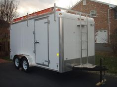 Job Site Trailers, Show Off Your Set Ups! - Page 10 - Tools & Equipment - Contractor Talk Lawn Trailer, Welding Trailer, Work Trailer, Trailer Plans, Trailer Build, Custom Trailers, Cargo Trailers, Utility Trailer, Camper Trailers