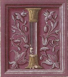 Eusebius Caesariensis A. Alphabet Letters Design, Monogram Letters, Alphabet Names, Medieval Books, Medieval Manuscript, Illuminated Letters, Illuminated Manuscript, Initial Art, Letter Ornaments