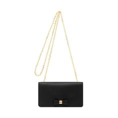 Bow Clutch Wallet in Black Silky Classic Calf | Women's Bags | Mulberry