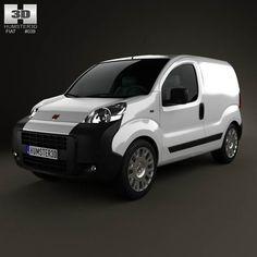 Fiat Fiorino Panel Van 2011 3d model from humster3d.com. Price: $75