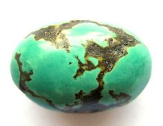 52 Ct Antique Repolished Tibet Green Turquoise by SilverFound, $11.75