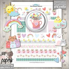 Spring Stickers, Planner Stickers - Planner stamps for your  planner   Planner stickers pack is perf