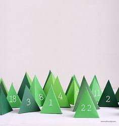 Christmas Printables   Print + Cut Winter Wonderland Advent Calender
