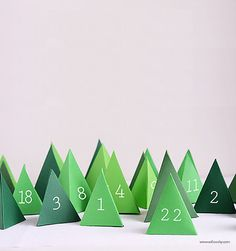 Christmas Printables | Print + Cut Winter Wonderland Advent Calender