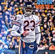 Devin Hester Devin Hester, Bears Football, Sports Celebrities, Best Player, Chicago Bears, Athlete, Baseball Cards, Sweet, Candy