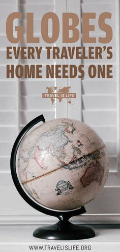Are you looking for the best world globe for your home? Every traveler's home should have a globe or a world map on display. During times that you're not traveling, what better way to remind yourself of how much of the Earth is left to see than a globe? Travel Items, Travel Gadgets, Travel Products, Travel Stuff, Travel Hacks, Travel Essentials, Globes For Sale, Travel Crafts, World Globes