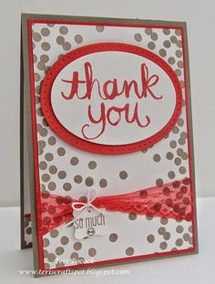 Stampin' Up! - Watercolour Thank You - With New In Colours .... Teri Pocock - http://teriscraftspot.blogspot.co.uk/2015/05/watercolour-thank-you-with-new-in.html