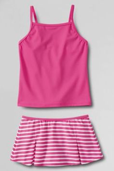 Girls' Stripe Swim Mini Set from Lands' End