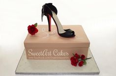 Shoe box cake, Christian Louboutin cake