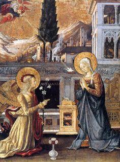 Benedetto Bonfigli - Annunciazione - 1455 - Museo Thyssen-Bornemisza di Madrid