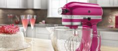 A dash of red, a twist of blue, a pinch of pink ... this is the recipe for a lively kitchen, and these appliances are ready to take center stage. Infuse some color into your cooking with toasters, blenders, mixers and more in lively lime, vibrant violet, or tangy tangerine.