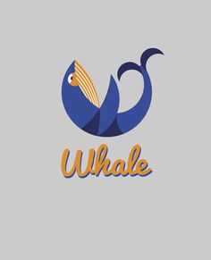 Study on geometry in logo design. I wanted to design a logo which incorporated a letter and a figure… so it became the 'Whale...