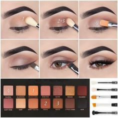 10 Latest Natural Eyeshadow Makeup Tutorials For Winter 2020 Want your eyes to glow while using minimal makeup? Check out these stunning natural eye makeup tutorials without caking on products. Dramatic Eye Makeup, Makeup Eye Looks, Eye Makeup Steps, Simple Eye Makeup, Natural Eye Makeup, Glam Makeup, Face Makeup, Sfx Makeup, Glitter Makeup