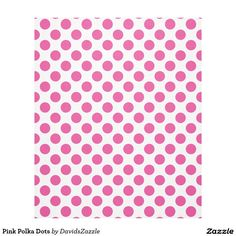 Pink Polka Dots Fleece Blanket Available on many products! Hit the 'available on' tab near the product description to see them all! Thanks for looking!  @zazzle #art #polka #dots #shop #home #decor #bathroom #bedroom #bath #bed #duvet #cover #shower #curtain #pillow #case #apartment #decorate #accessory #accessories #fashion #style #women #men #shopping #buy #sale #gift #idea #fun #sweet #cool #neat #modern #chic #laptop #sleeve #black #orange #blue #pink #white
