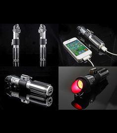 Power Bank Batterie externe Sabre laser Dark Vador Star Wars