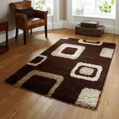 Teppich Lanier in Braun/Beige ScanMod Design Teppichgröße: 120 x 170 cm Modern Rugs Uk, Cheap Rugs, Sheepskin Rug, Buy Rugs, Pink Rug, Rugs Online, Colorful Rugs, Rugs On Carpet, Shaggy Rugs