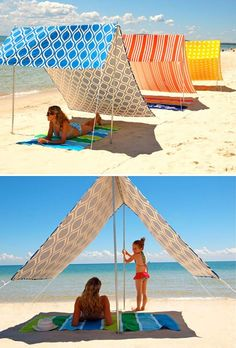 Possible DIY shade to bring on beach vacations