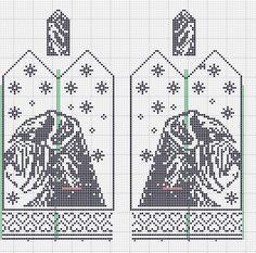 Kennel Enano - Bodø - Kreativitet setter ingen grenser... Knitting Patterns Free Dog, Knitted Mittens Pattern, Crochet Amigurumi Free Patterns, Knitting Charts, Knitting Stitches, Cross Stitch Charts, Cross Stitch Patterns, Crochet Braids For Kids, Crochet Blanket Edging