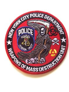 NYPD Weapons of Mass Destruction Unit Patch. Destruction Unit, Weapon Of Mass Destruction, Law Enforcement Badges, Law Enforcement Officer, Der Club, Police Badges, New York Police, Police Patches, Military Police