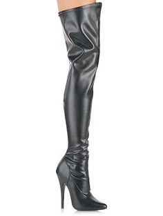 Black Leatherette Fetish Thigh High Boot -- Read more reviews of the product by visiting the link on the image.