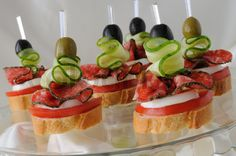 Image of 'Canapés with salami'