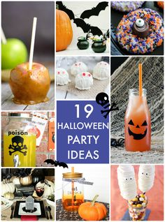 19 Halloween Party Ideas! So many cute ideas! -- Tatertots and Jello