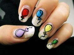 birthday nails....these are incredibly adorable