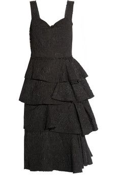 Lanvin Tiered jacquard dress | THE OUTNET