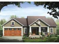 Floor Plans AFLFPW09265 - 1 Story Craftsman Home with 3 Bedrooms, 2 Bathrooms and 1,509 total Square Feet