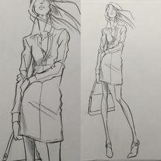 Design Sketch for Ralph Lauren Division: POLO Woman Spring 2014 by Renaldo Barnette