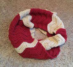 Crocheted Chevron Scarf Cowl Wrap ripple by CrochetedByKristina