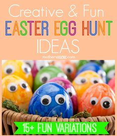 Easter Egg Scavenger Hunts, Riddles, Games, Clues, and other Fun and Creative Easter Egg Hunt Ideas. Take your traditional Easter Egg Hunt and add a creative twist. Here a creative ideas for your Easter Egg hunt this year. Easter Games, Easter Activities, Party Activities, Holiday Activities, Easter Hunt, Easter Party, Easter Brunch, Hoppy Easter, Easter Eggs