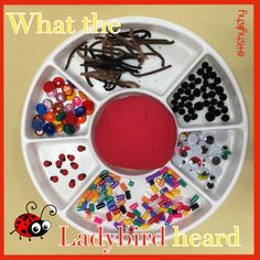 What the ladybird heard fine motor with playdough Eyfs Activities, Animal Activities, Easter Activities, Spring Activities, What The Ladybird Heard Activities, Minibeasts Eyfs, Finger Gym, Early Years Classroom, Funky Fingers