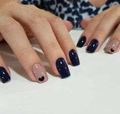 Ideas For Nails Blue Nailart Manicures Perfect Nails, Gorgeous Nails, Stylish Nails, Trendy Nails, Elegant Nails, Pink Nails, My Nails, Nails Polish, Cute Acrylic Nails
