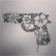Revolver Gun Fleuris