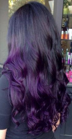 This listing is for 18 long DARK PURPLE colored clip-in hair extensions. -1.25 wide and 18 long 100% real human hair extensions -each extension is approximately 6-8 grams of hair -wefts are doubled, then sewn together and then are sewn on to a 1.25 mini clip -they easily clip into existing #humanhairextensions