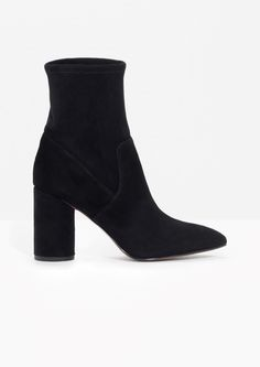 & Other Stories image 1 of Suede Sock Boots in Black