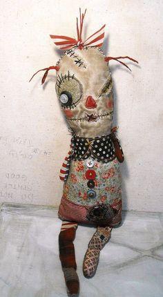 Handmade Art Doll  Craggedy Ann par JunkerJane sur Etsy, $85.00