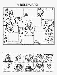 Z internetu - Sisa Stipa - Picasa Web Albums File Folder Activities, Abc Activities, English Activities, Preschool Writing, Preschool Worksheets, Learning Through Play, Kids Learning, Science Experience, Restaurant Themes