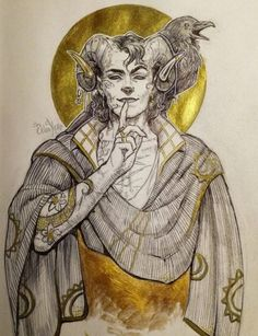 """xerika-ero: """" Started a new sketchbook with a Molly drawing I love tieflings since I first played when I was a child so I wasn't surpised to have a crush on this guy XD """" Critical Role Characters, Critical Role Fan Art, Dnd Characters, Fantasy Characters, Character Inspiration, Character Art, Character Design, Larp, Pretty Art"""